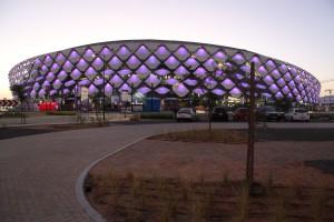 Das Hazza Bin Zayed Stadion in Al Ain