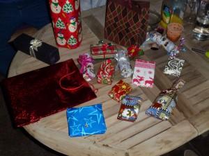 Eine Auswahl der Geschenke - Weihnachten ist ueberall!