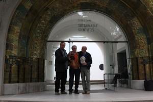 Ungarischer Pavillon, Venedig: Bembelbedu Hans Christian mit Eintrachtlegende Dieter Lindner und Schwager Herbert Kunna