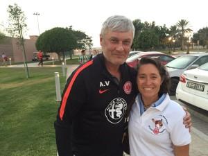 Trainer Armin Veh mit Carmen Munoz
