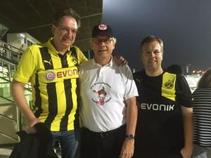 Freundschaftliche Begegnung mit den Fans von Borussia Dortmund: Matthias(r) und Hans Christian (m)