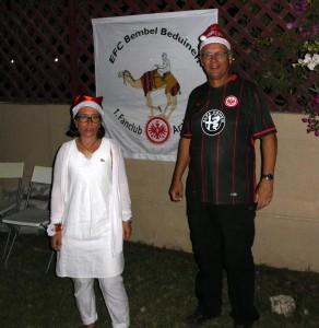 Carmen und Hans Christian mit jahreszeitlicher Kopfbedeckung.
