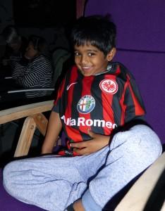 Kiran - einer unserer juengsten Eintracht - Fans!